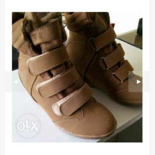 SnH hidden wedge boots brown size 7