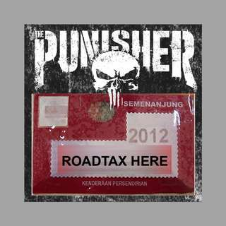 Road Tax Sticker The Punisher