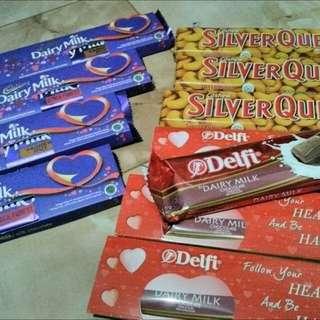 Coklat Cadbury, Silverqueen Dan Delfi 65gr