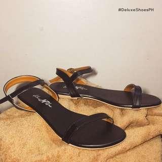 Black Strap Flat Shoes/Sandals
