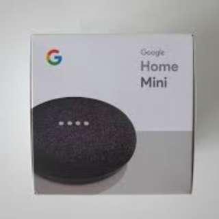 BNIB - Ready Stock Google Home Mini (Charcoal)