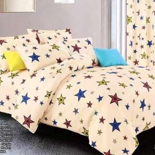 5in1 bedsheet size : SINGLE , DOUBLE , QUEEN , KING