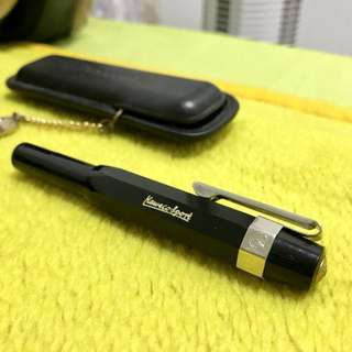Kaweco sport rollerball pen (black) with case