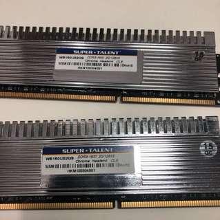 Super Talent DDR3 1600 2GB x 2