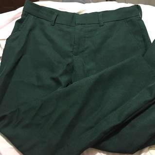 Dark Green School Pants
