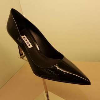 Miu miu 高跟鞋 高爭 黑色 尖頭