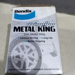 FREE POSTAGE PROMO! Genuine Bendix Titanium METAL KING Front Brake Pads for Suzuki Swift / Perodua Myvi