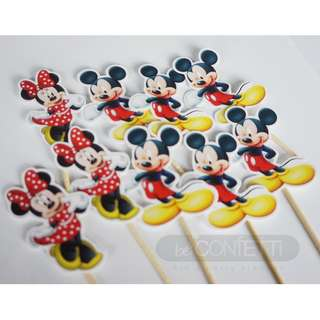 Mickey and Minnie Cupcake Topper