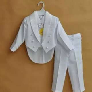 Special price! Formal baby boy clothing set wedding suit party baptism christmas dress for 0-1T baby body suits wear