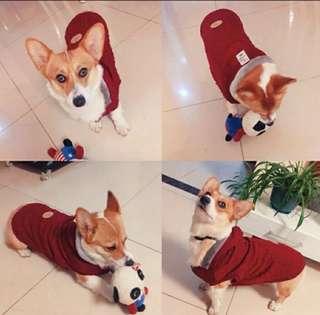 🚚 [寵愛毛孩]針織連帽內舖絨寵物上衣