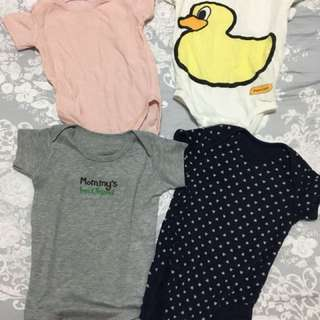 Baby girl 3-9 months Rompers bundle 4pcs