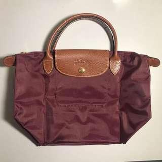 Longchamp Le Pilage 手袋 S 深紅色