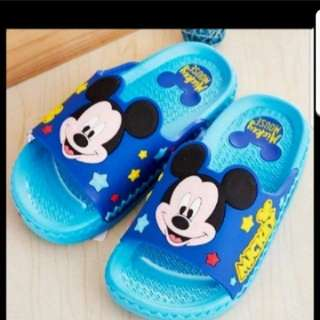 In Stock Disney Mickey Mouse Slippers For Boys 17cm