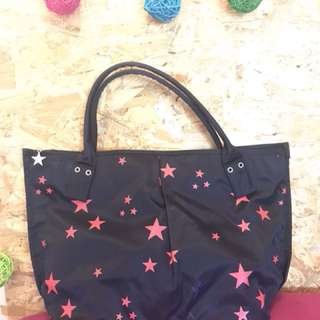 新年清貨 Agnes b 黑色星星餃子袋