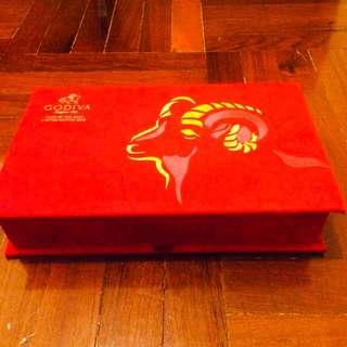 Godiva red felt box