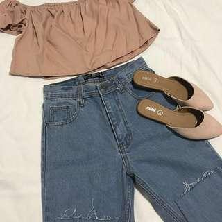 Light mom jeans