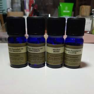 Neil's yard 100% organic aromatherapy oils (for dilution or for skincare)