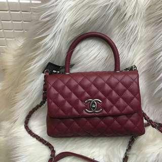 Chanel mini top handel semiori Size :25 cmx 18 cm Lgkp talipjg sertifikat Dust bag