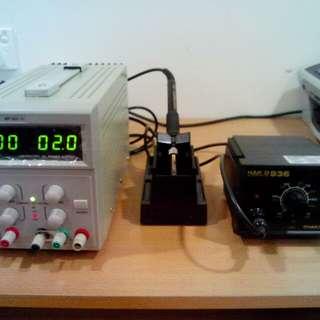 Oscilloscope & soildering gun set for sell