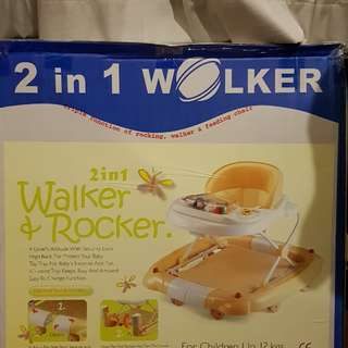 Lucky baby Walker and Rocker New