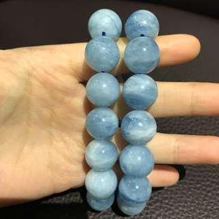 海藍寶手珠 15mm《左右各一條》《現貨》