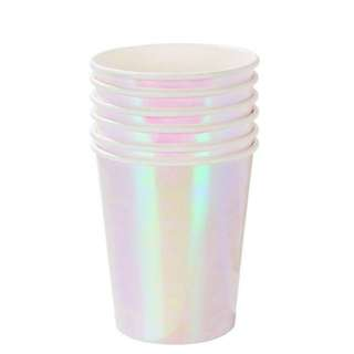 Iridescent Party Paper Cup - Birthday / baby shower / Christmas party / weddings