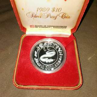 1989- $10 Silver Proof Coin (Snake)