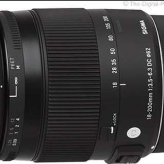 Sigma 18-200mm f/3.5-6.3 DC Macro OS HSM Lens for Canon and Nikon