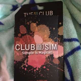 The club SIM card