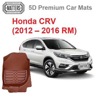 MATTERS 5D Premium PU Leather Car Mats For Honda CRV: (2012 – 2016 RM) Qoo10 Official Store