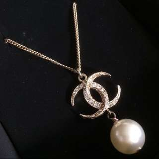 Chanel 頸鏈 全新 珍珠 閃石 Crystal Pearl New Necklace