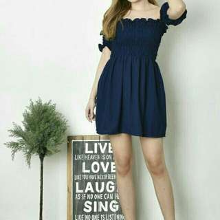 Dress prisket 020  Bhn kulit jeruk fit L ld80 melar
