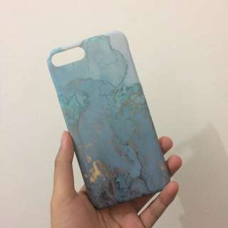 Marble Hard Case iPhone 7 Plus in BLUE