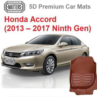 MATTERS 5D Premium PU Leather Car Mats For Honda Accord (2013 – 2017 Ninth Gen) Qoo10 Official Store