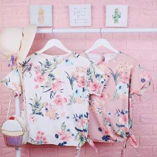 Side tie floral up to XL