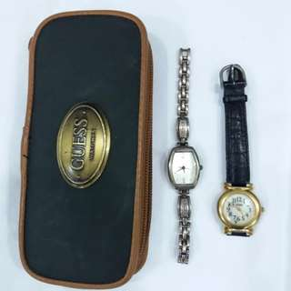 2 Guess Watches and Pouch at $60