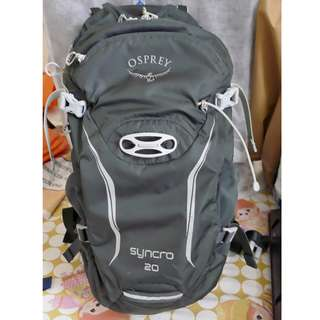 Osprey SYNCRO 20L 單車背囊 backpack rucksack with rain cover