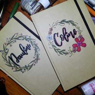 Personalized Notebooks ( FLORAL DESIGN )