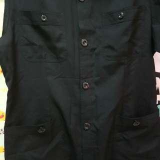 西裝哨短袖  兩件(豪宅高級住宅保全衣著)