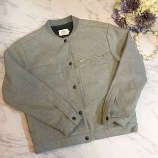 Made in Korea Grey Baseball Jacket