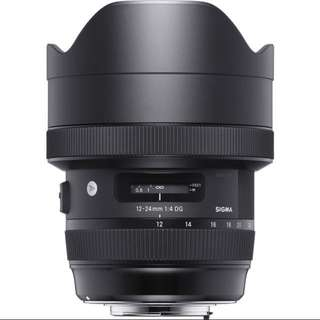 Sigma 12-24mm f/4 DG HSM Art Lens for Canon and Nikon