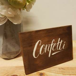 Wooden Signage for Wedding Reception