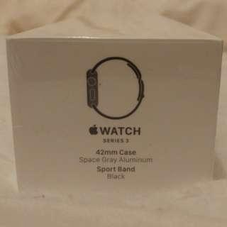 全新未開封Apple Watch Series 3 42mm