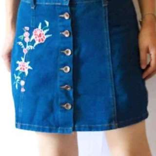 Maong skirt Size: S-M-L Price: 300.00 retail