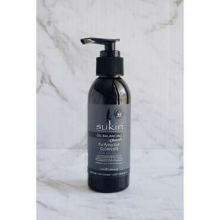 Sukin Oil Balancing Plus Charcoal Purifying Gel Cleanser