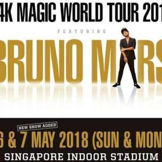 Bruno Mars 24K Magic Tour 2018 - SINGAPORE