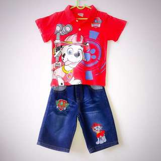 #Huat50Sale CNY Boy's clothes (Paw Patrol top and pants)