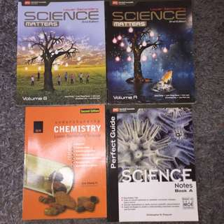 SECONDARY 2 SCIENCE TEXTBOOKS