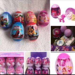 Limited Stock left!! Kids egg surprise (mc Queen/paw patrol/ transformer /hello kitty /pony /spiderman /princess) $2.90 each brand new bulk purchase pls on me .. ideal for goodies bag gift as all kids love surprise 😍