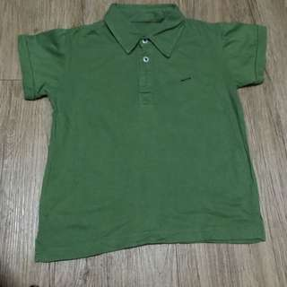 Spin Green Polo Shirt for Kids